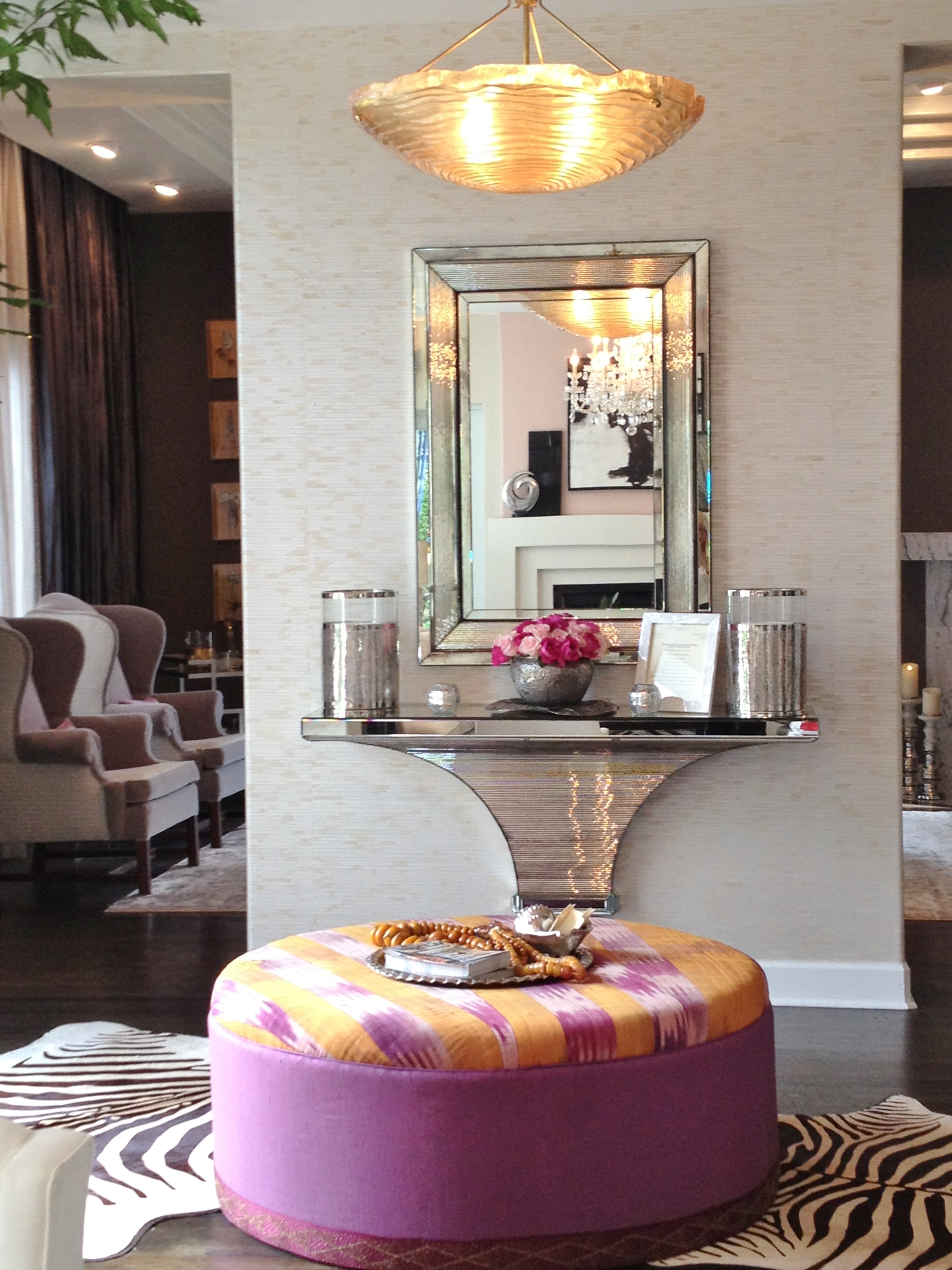 The Living Room Transformed By Jack Fhillips Was Lovely With It S Soft Color Palette Of Blush Gray Black And Whites Which He Explained Was Influenced By